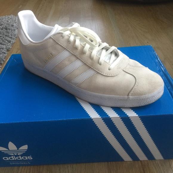 Adidas Gazelle Off White Sneakers Mens Size 12